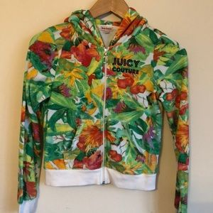 Juicy Couture terry floral branded hoodie size M